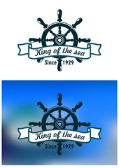 Nautical or marine vintage banner