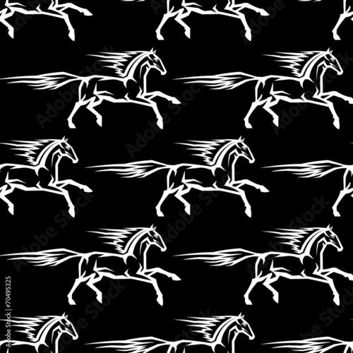 Seamless pattern of horse stallions - 70495325