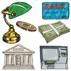 set of banking objects