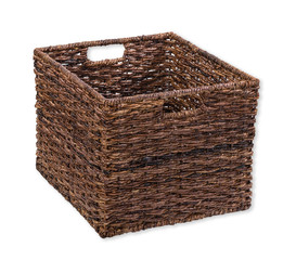 Brown storage basket