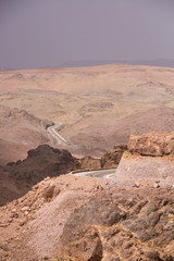 Dades Gorges, High Atlas, Morocco, Africa. Road view.
