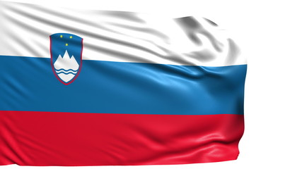 flag of Slovenia with fabric structure; looping