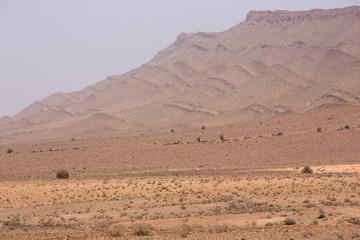 Arid and hot day in the desert of Sahara, Tata