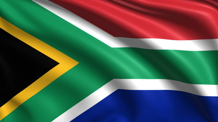 flag of South Africa with fabric structure; looping