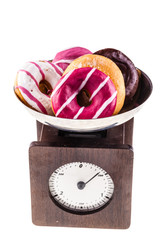 Scale with donuts
