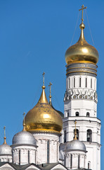 Ivan the Great Bell Tower and the dome of the Archangel cathedra