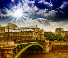 Paris, France. City landmarks in summer season