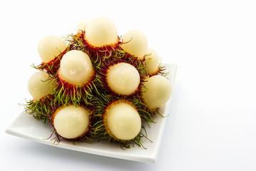 Fresh sweet rambutan,tropical fruit.
