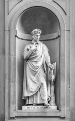 Statue of Dante in Florence.