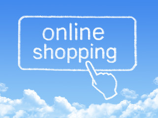Online shopping message cloud shape