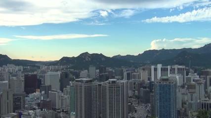 韓国-南山から見たソウル市街2