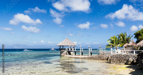 canvas print picture Perfect weather for diving
