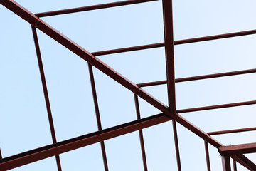 steel beam in building construction site