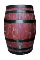 Wooden Barrel.  Barrel made of wood. isolated on a white backgro