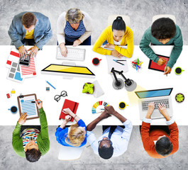 People Working in the Office Photo and Illustration