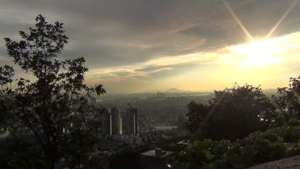 韓国-南山から見たソウル市街5