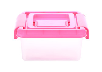 box storage plastic container isolated