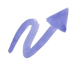 watercolor arrow