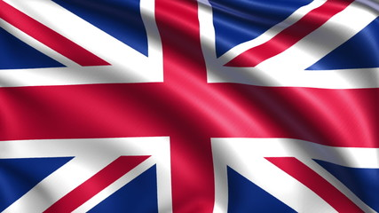 flag of the United Kingdom with fabric structure; looping