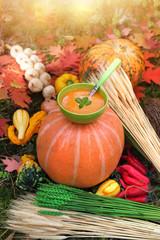 Autumn cooking - pumpkin soup