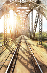 Old steel railway bridge