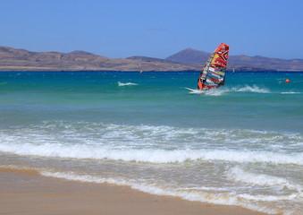 chamionnat du monde de windsurfing aux canaries