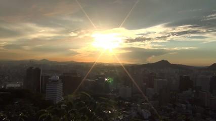 韓国-南山から見たソウル市街6