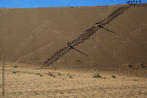 canvas print picture Namibia, sossusvlei, red desert