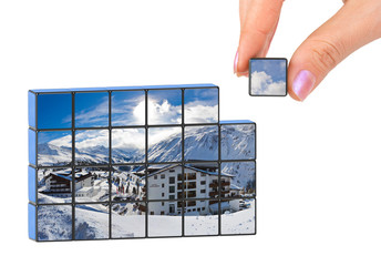 Hand and winter Austria (my photo) puzzle