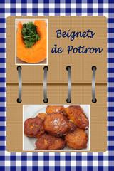 Beignets de Potiron sucrés - Livre de Cuisine