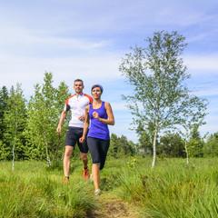 zusammen joggen