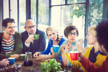 Group of People on Coffee Break