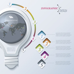Abstract illustration Infographic template
