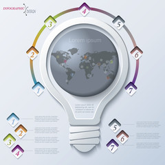Abstract illustration Infographic with light bulb