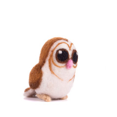 Artificial felt owl toy.