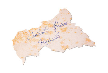 Old paper with handwriting - Central African Republic