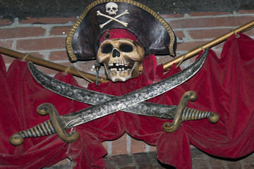 pirates skull and sword