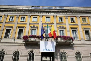 Rathaus in Bergamo. Italien