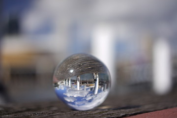 Creative Crystal ball view of Darling Harbour, Sydney