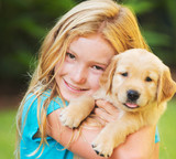 Girl with Puppy - Fine Art prints