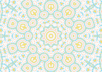 Abstract color pattern on white background
