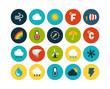 Flat icons set 23