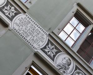 façade de la maison ou goethe séjourna