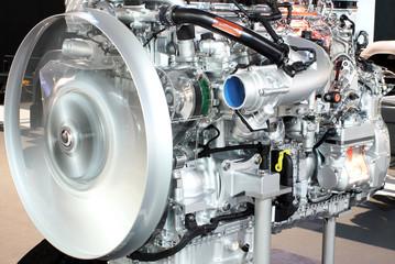 heavy truck engine closeup