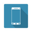 Flat design. mobile phone icon