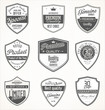 Premium quality retro vintage badges