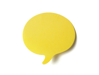 Yellow speech bubble