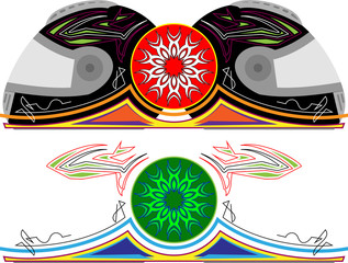 Helmet Graphics, Stripe : Vinyl Ready