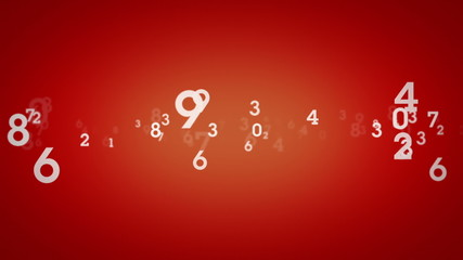 Random Numbers Red Zooming
