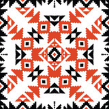 Tribal ornament in red and black